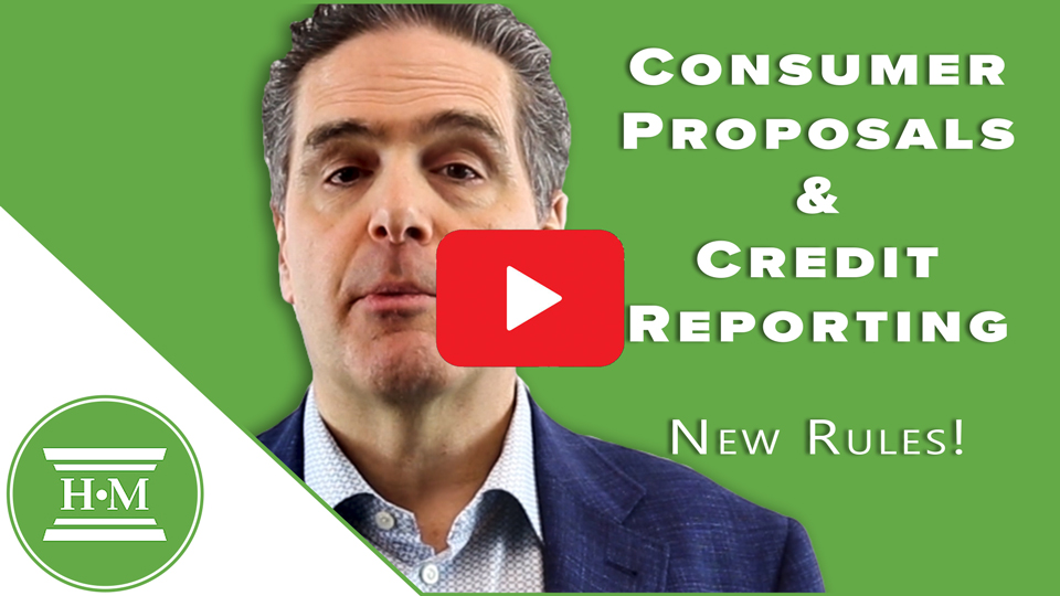 How long will a consumer proposal remain on my credit report? New Rules!