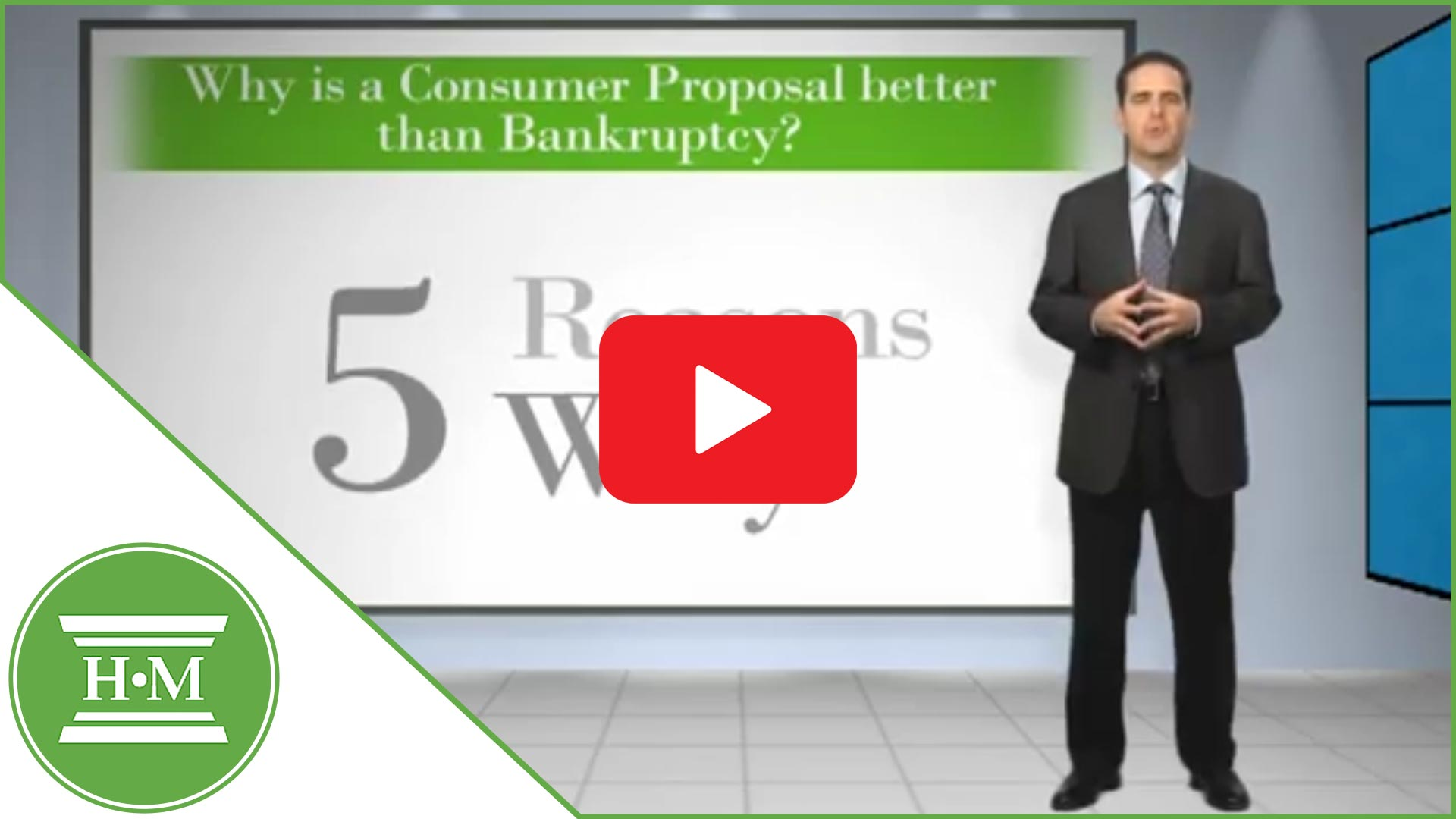 5 reasons why a consumer proposal is better than bankruptcy