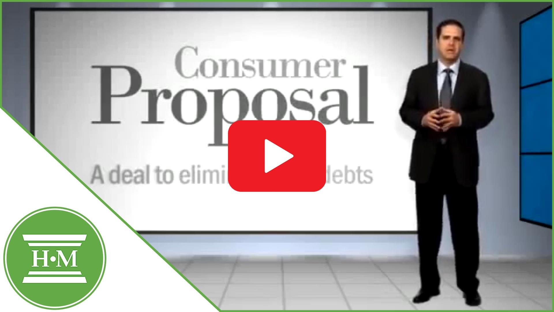 consumer proposal Canada - a deal to eliminate debt