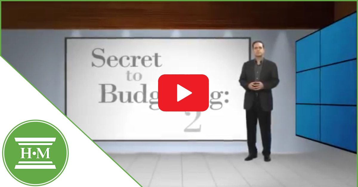 The Secret to Budgeting Part 2: Video