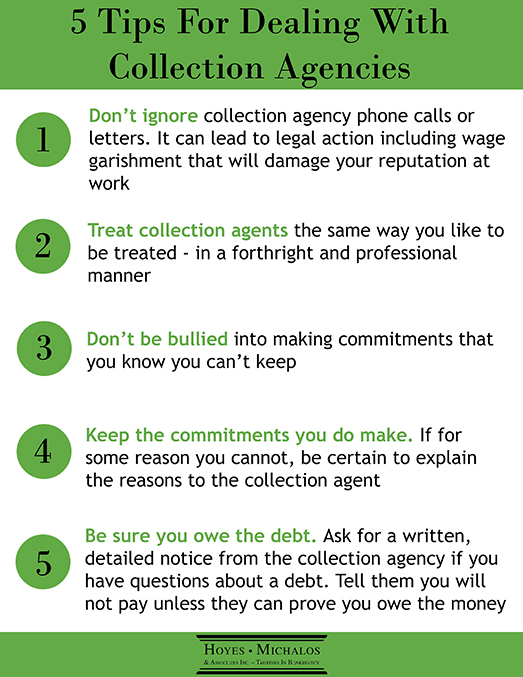 tips for dealing with collection agencies