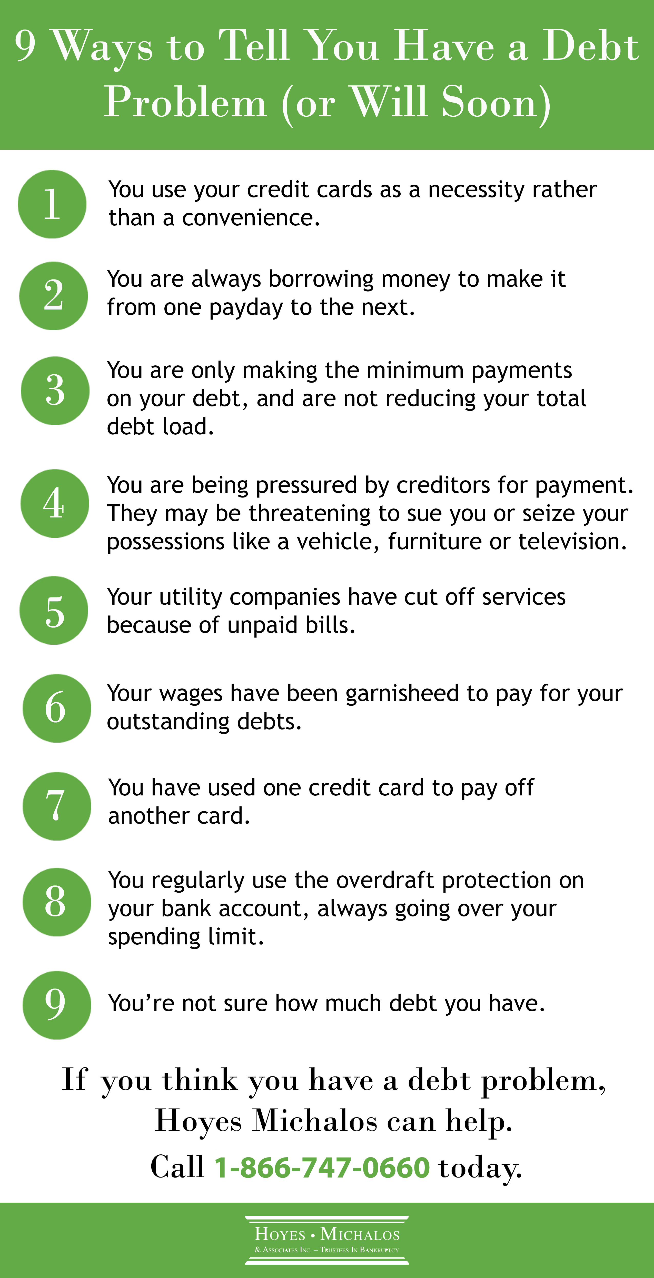 warning signs of debt