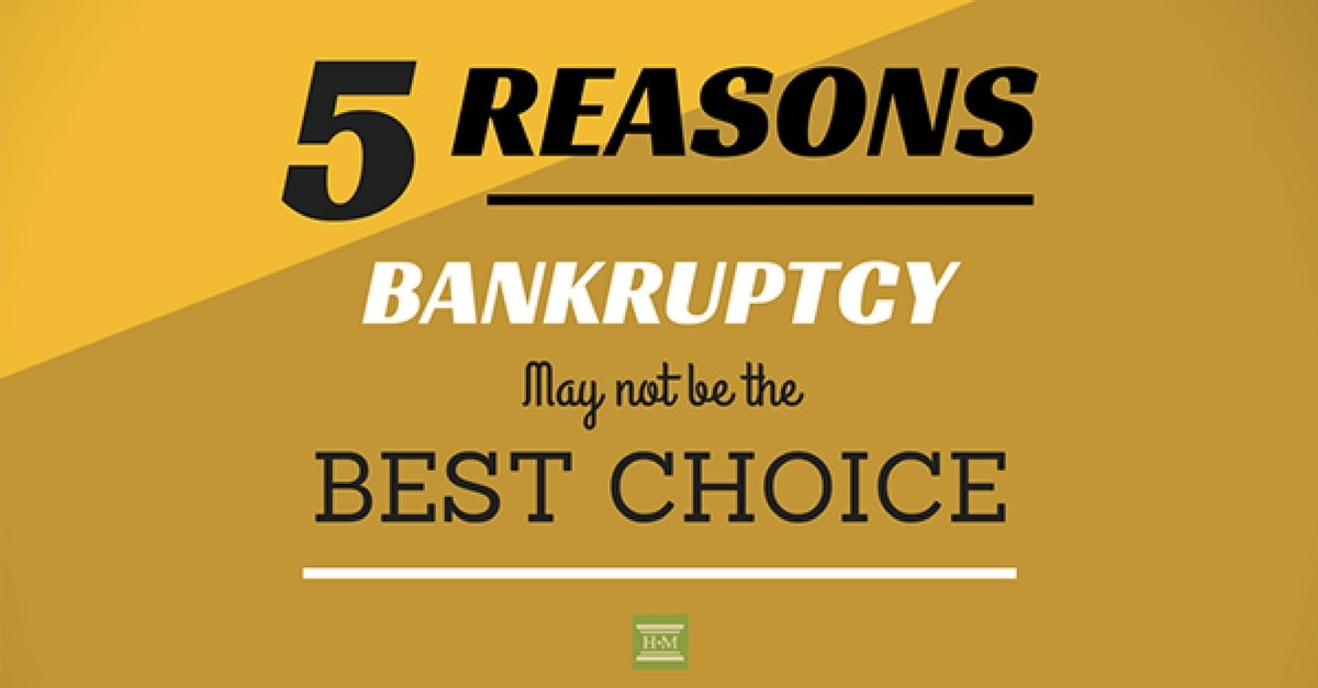 5 Reasons Not To File Bankruptcy