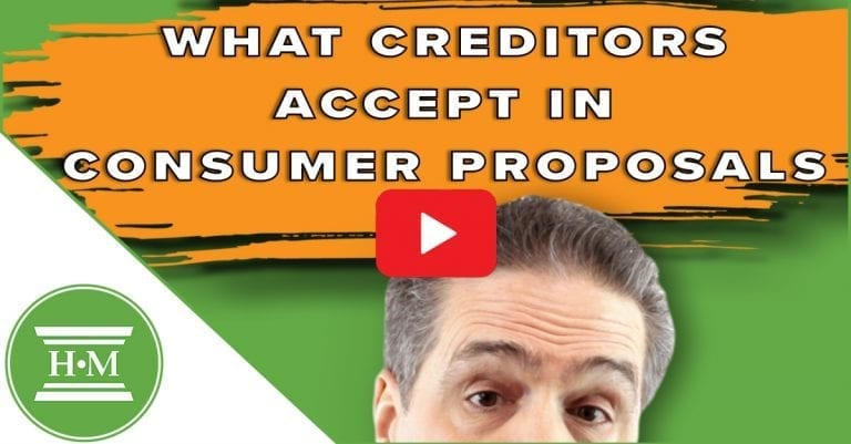 Negotiating Consumer Proposals. What Your Creditors Expect.