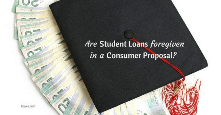 Student Loan Treatment in a Consumer Proposal