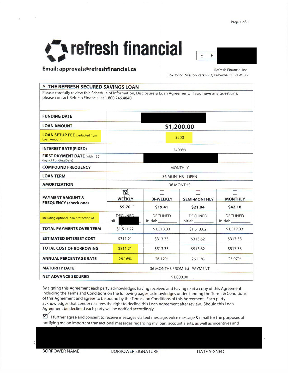 Refresh Financial Credit Repair Payments
