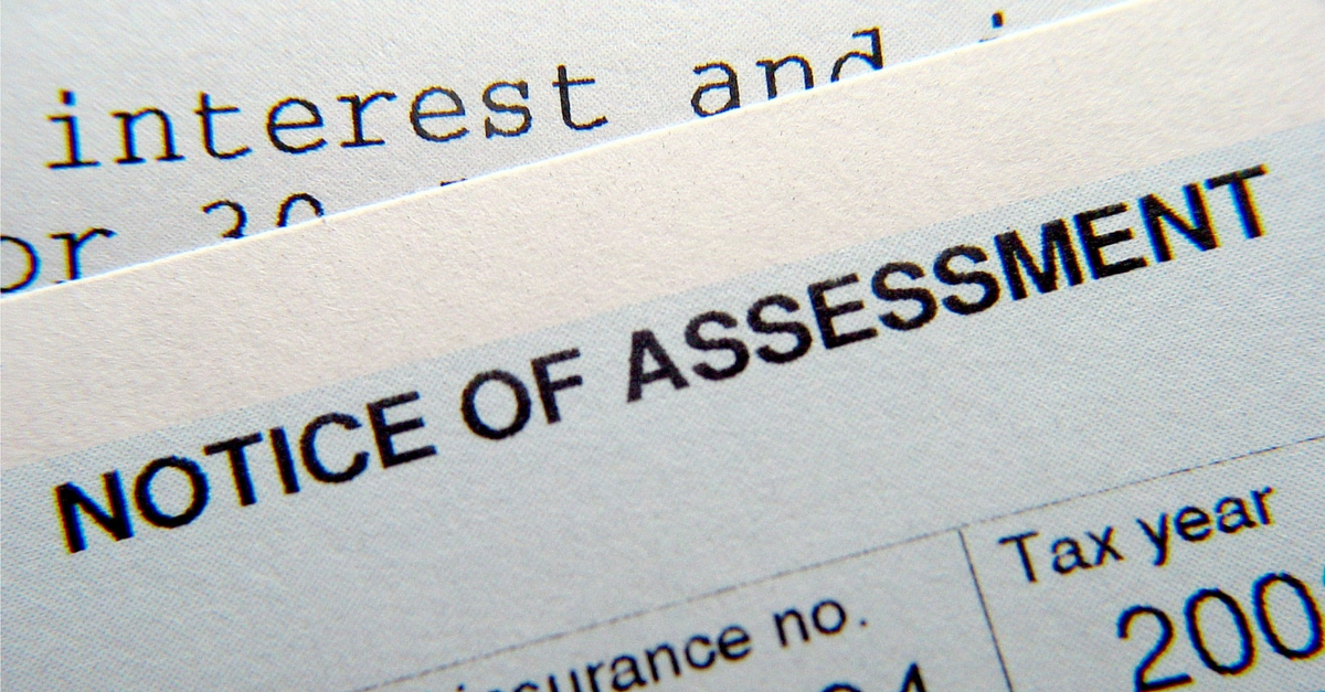cra notice of assessment