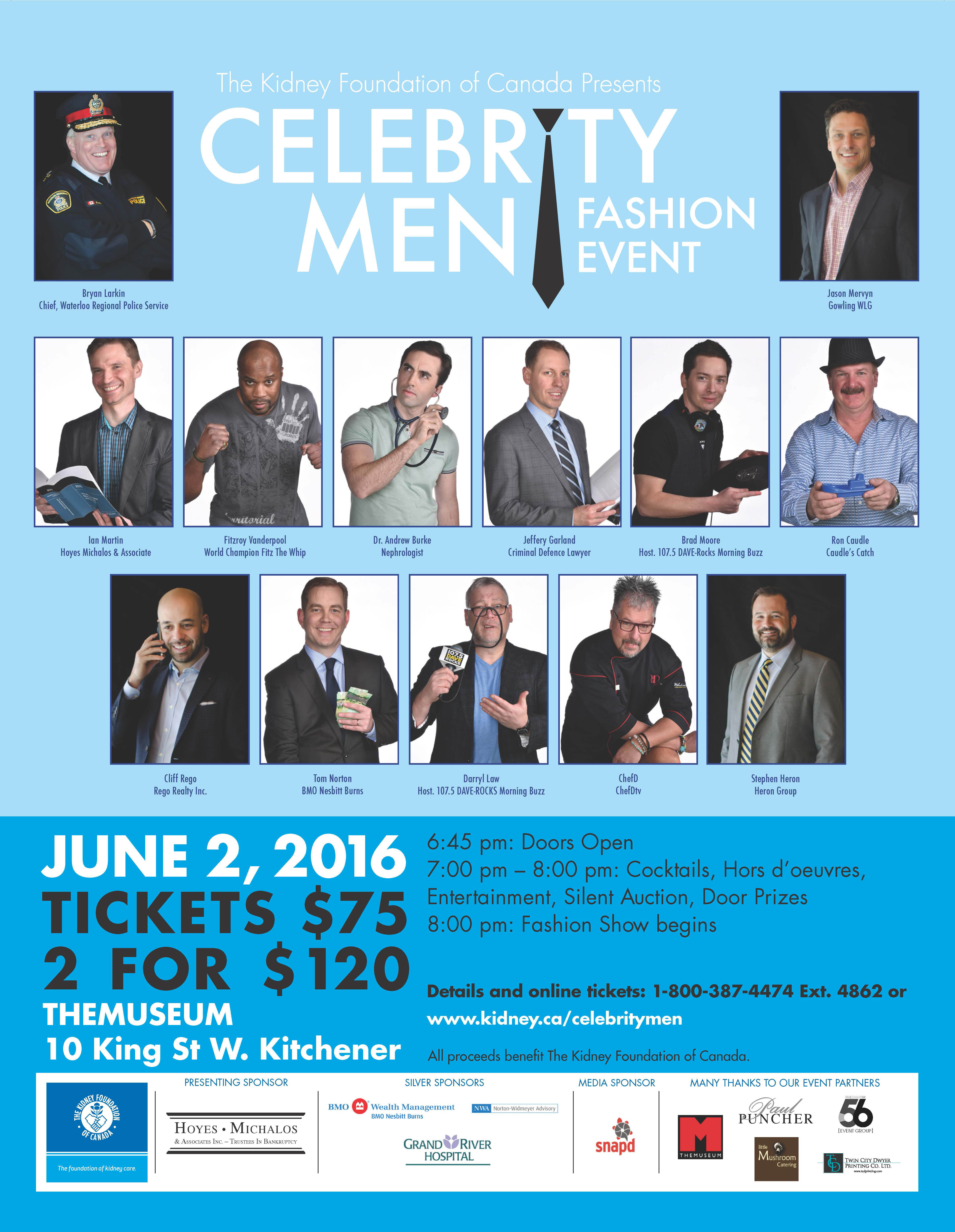 The Kidney Foundation Celebrity Men Fashion Event
