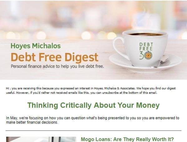 Debt Free in 30 Newsletter