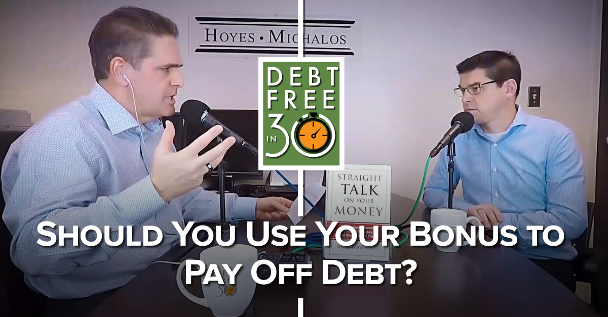 Should You Use Your Bonus To Pay Off Debt?