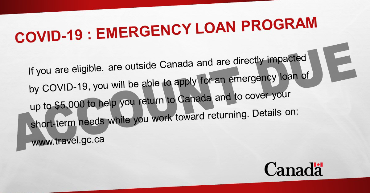 Collection of Emergency Loan for Canadians Abroad